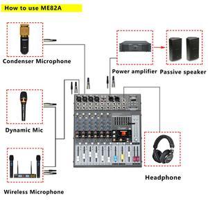 Image 4 - Freeboss ME82A Ultra רעש נמוך 4 מונו + 2 סטריאו 8 ערוצים 16 DSP USB מקצועי dj אודיו מיקסר קונסולה