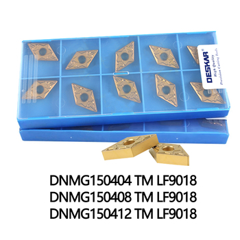 цена на 10PCS DESKAR DNMG150404 TM LF9018 DNMG150408 TM LF9018 DNMG150412 TM LF9018 Turning Tools Carbide inserts for stainless steel