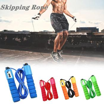 Sports counting skipping Jump Rope Kids Fitness Skipping Rope Adjustable Speed Rope with Counter Foam Handle 1pc jump skipping ropes professional sponge skipping aerobics fitness adjustable speed counting skipping home fitness equipment