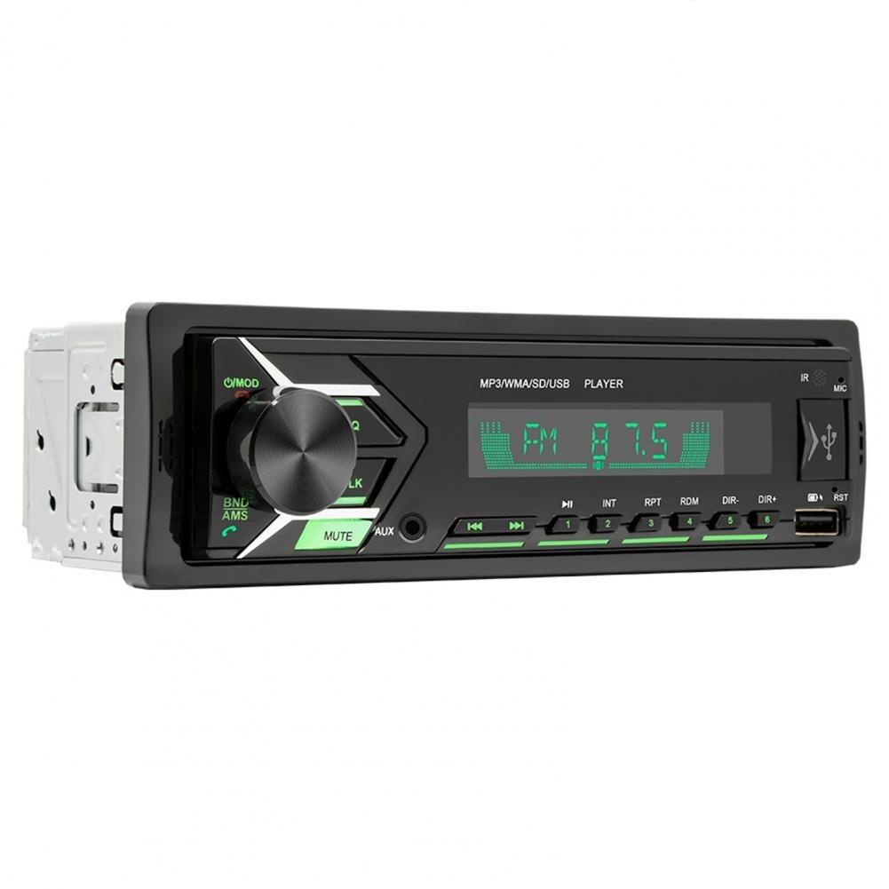 Universal fm player de rádio duplo usb carregador automático 7 cores luz bluetooth handsfree estéreo mp3 player música para carro centro contro