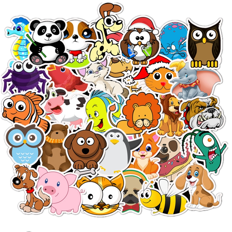 50 Pcs Cute Stickers For Children DIY Laptop Luggage Guitar Bicycle Skateboard Phone Fridge Decals Kawaii Anime Cartoon Stickers