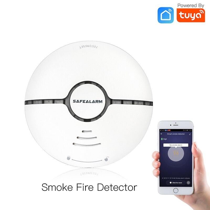 Smoke Fire Alarm Sensor Detector WiFi Smart Home Security System Battery-powered  Alarm Wireless Smart Life Tuya App Control