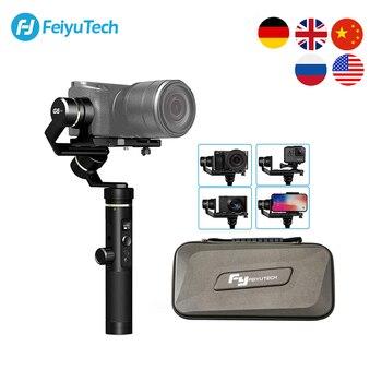 FeiyuTech G6 Plus 3 Axis ручка брызг карданный стабилизатор для экшн камеры GoPro Hero 8 7 6 смартфонов беззеркальных карман Камера Feiyu G6P
