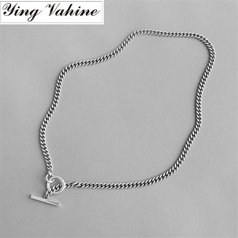 Ying Vahine 100% 925 colliers ras du cou en argent Sterling Vintage pour femmes