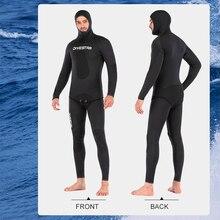 3mm/5mm kombinezon do nurkowania utajony odkryty kamuflaż polowanie na ryby garnitur z kapturem ciepły podział nurkowanie Surfing łowiectwo podwodne