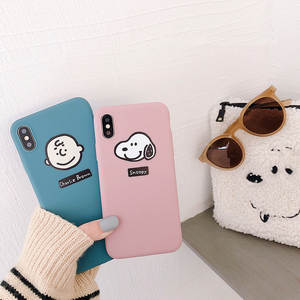 Cute Cartoon 6 P Phone Case All Edges Included Shatter-resistant Applicable iPhone Xs MAX8plus Creative Avatar Couples