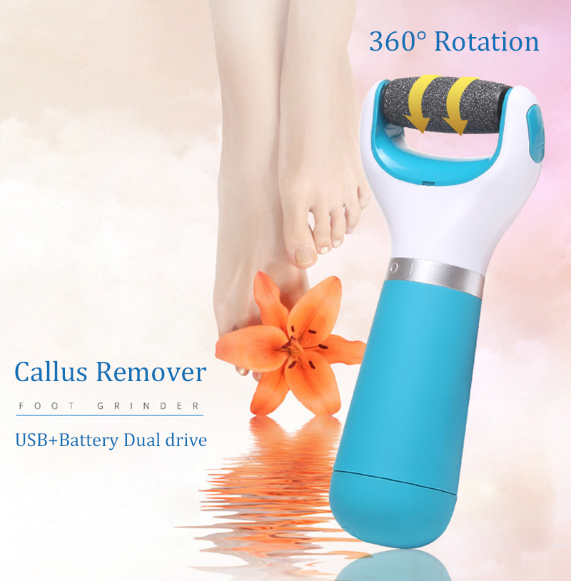 Free Shipping Electric Foot Dry Dead Cuticle Skin Remover Foot Care  Roll Heads Pedicure Care Tools Removal Foot Grinding