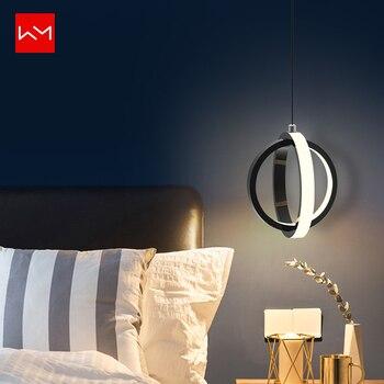 WANMING Modern LED Pendant Lights Creative Ring Pendant Lamp Lustre Lamparas De Techo Colgante Luminaire for Bedroom Living Room