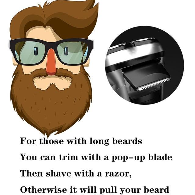 Enchen Electric Shaver Men's Razor Beard Trimmer shaver for men  3 blades portable beard trimmer cutting machine for sideburns 5 4