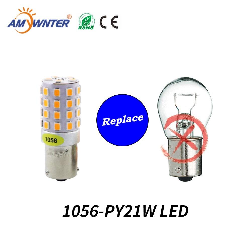 AMYWNTER 12V 1157 BAY15D P21/5W 1156 BA15S P21W Canbus LED PY21W 1056 BAU15S Turn Signal Running Light Bulb Red/Yellow/Whiterunning lightssource 12vled signal -