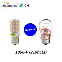 Amywnter 12v 1157 BAY15D P21/5 ワット 1156 BA15S P21W canbus led PY21W 1056 BAU15S信号電球レッド/イエロー/ホワイト