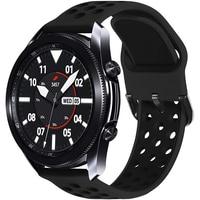 20mm 22mm cinturino sportivo in Silicone traspirante per Samsung Galaxy Watch 3 45mm 46mm attivo 2 40mm Huawei GT 2E Amazfit GTS gts2
