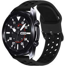 20Mm 22Mm Sport Ademend Siliconen Band Strap Voor Samsung Galaxy Horloge 3 45Mm 46Mm Actieve 2 40Mm Huawei Gt 2E Amazfit Gts Gts2
