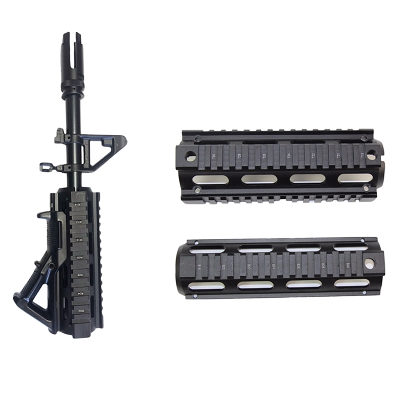 6.7 Inch Rifle Quad Rail <font><b>Handguard</b></font> Tactical Gear Carbine Weaver Picatinny Rail for Airsoft <font><b>AR</b></font>-<font><b>15</b></font> M4 Shooting Hunting Accessories image
