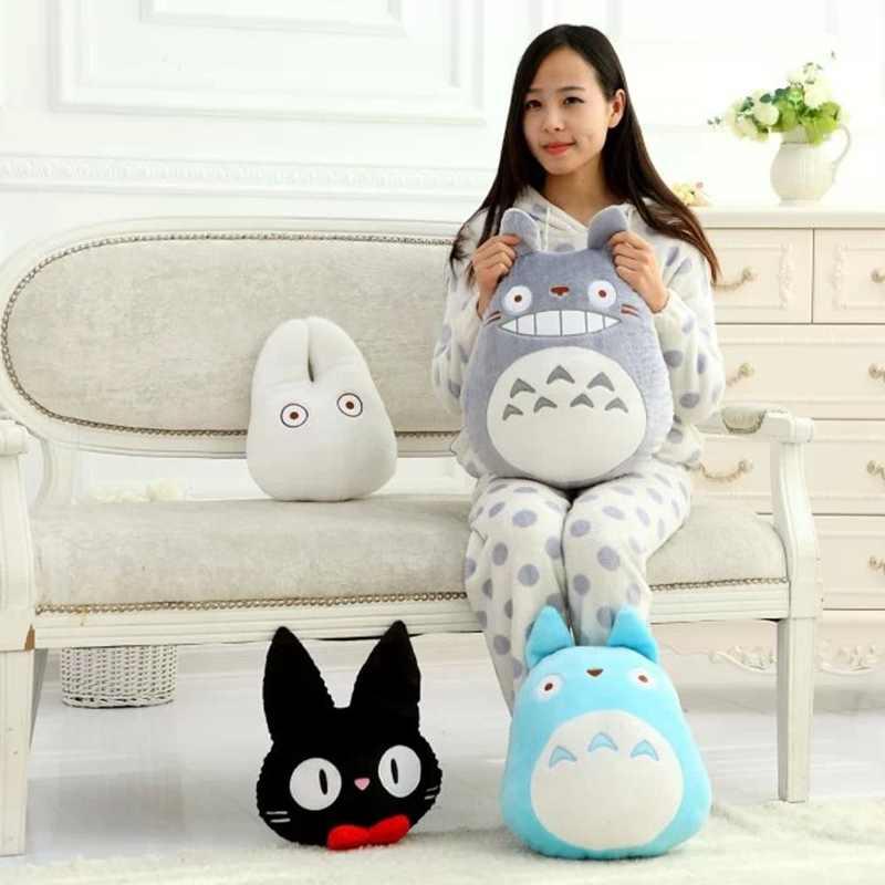 ภาพยนตร์การ์ตูน TOTORO ตุ๊กตาตุ๊กตาของเล่นตุ๊กตาหมอนการ์ตูนสีขาวตุ๊กตา Totoro บริการจัดส่ง kikis Black Cat ของเล่นสำหรับแฟนๆ