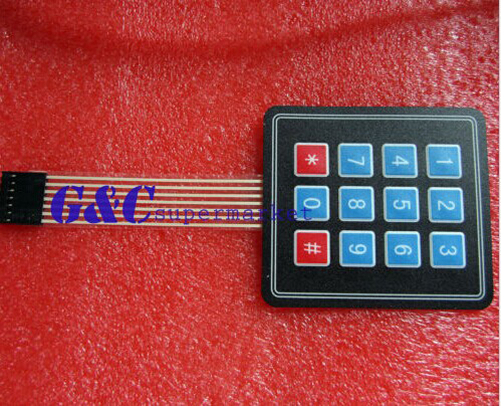1PCS 4 X3 Matrix Array 12 Key Membrane Switch Keyboard Keyboard Diy Electronics Accessories Diy Electronics