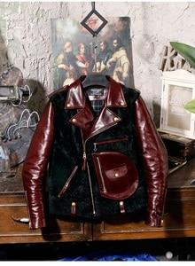 Image 1 - ปี! จัดส่งฟรี. คลาสสิกมอเตอร์น้ำมัน WAX cowhide Jacket,VINTAGE J24 ชา Core ของแท้หนัง,ฤดูหนาว WARM Wool