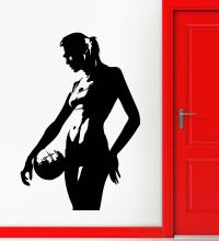 Girls Sports Fashion sport Volleyball Vinyl Decal Silhouette Sexy Girl Wall Stickers Art Poster Mural Decals W718