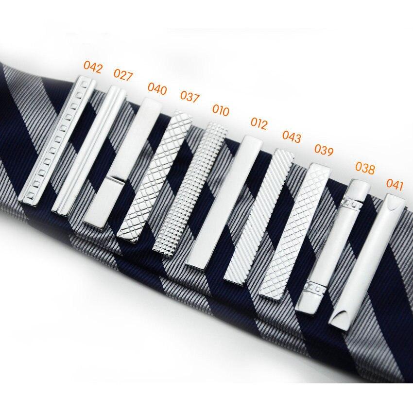 Luxury Tie Clips For Mens Copper Alloy 4cm Simple Short Tie Clip Delicates Square Grid Lacquer Men Formal Tie Clip Accessories