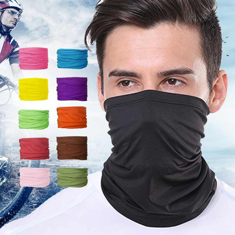Multi Functional Outdoor Face Cover Fashion solid Scarves Seamless Quick Dry Hairband Head Scarf Bandana