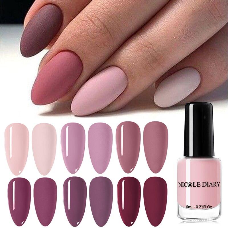NICOLE DIARY 36 Colors  Nail Color Matte Nail Polish Colorful Black White Red Long Lasting  Matte Nail Varnish DIY