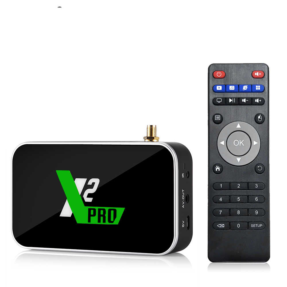 X2 Pro 4 Gb DDR4 di Ram 32 Gb di Rom Astuto di Android 9.0 Tv Box Amlogic S905X2 2.4G/5G Wifi 1000M Lan Bluetooth 4K Hd X2 Cubo di Media Player