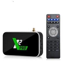 Ugoos x2 pro 4gb ddr4 ram 32gb rom smart android 9.0 caixa de tv amlogic s905x2 2.4g/5g wifi 1000m lan bluetooth 4k hd conjunto caixa superior
