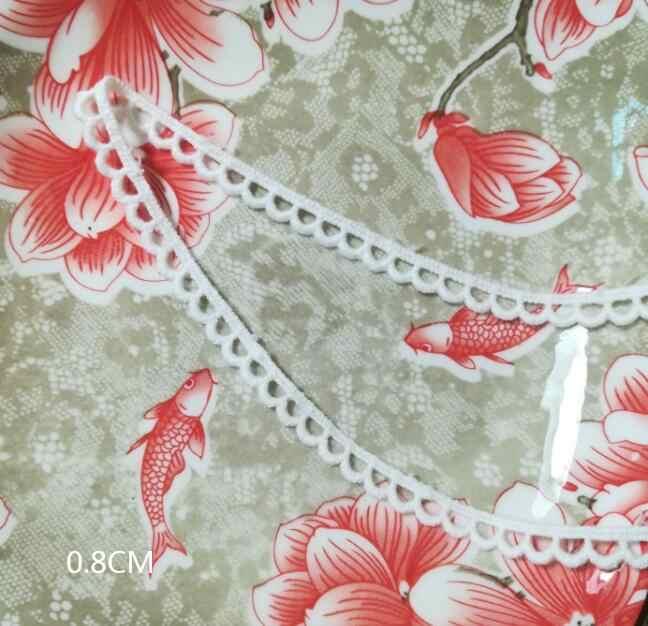1 Thước Đầm Ren Viền Ngôi Sao Ruy Băng Cotton Trắng Đen Phối Ren LOVE Phối Ren Táo May Khăn Yếm Tam Giác Dentelle RUBAN Phối LP11