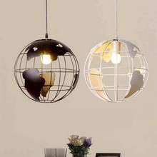 Creative Earth Light Earth Iron Chandelier Lampshade Decorative Light 220V E27 Kitchen Restaurant Restaurant Diameter 28cm Light