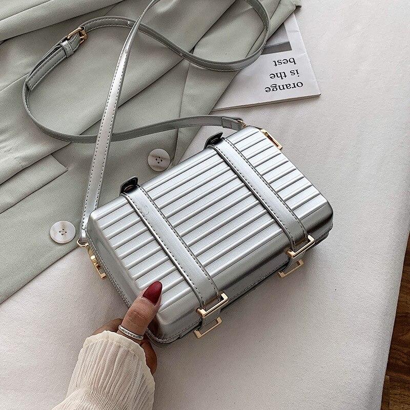 Popular Bags For Women 2020 New Tiktok Wave Korean Version Messenger Bag Fashion Trolley Case Shoulder Bag Pu Leather Handbags