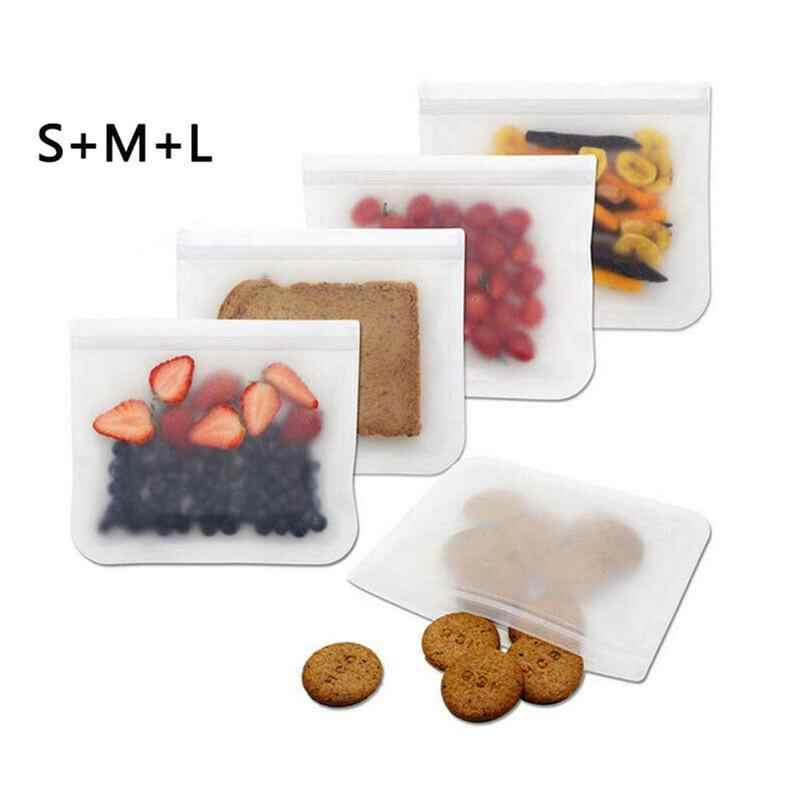 New Sealed Food Storage Bag Refrigerator Food Storage Bag Food Bag Custom Logo Kitchen Fruit Meat Milk Containers Fresh Bag