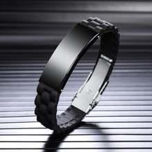 Браслеты регулируемые браслеты из нержавеющей стали и резины