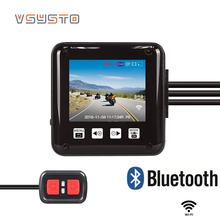 VSYSTO waterproof wifi motorcycle DVR dual lens 1080p full hd front and rear view motorbike dash cam mirror image for back cam цена 2017
