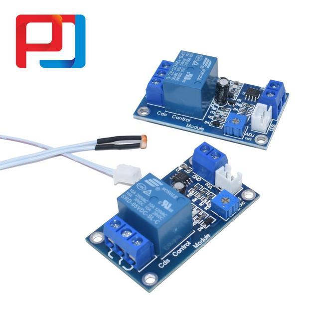 XH M131 DC 5V/12V interruptor de Control de luz relé fotorresistor Detección de Módulo Sensor 10A módulo de Control automático de brillo 10 Uds