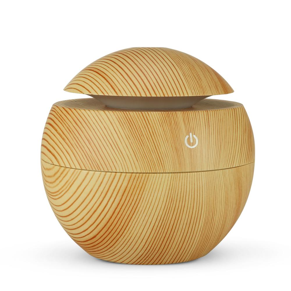 NMT-036 7 Colors Change LED Night light USB Aroma Air Humidifier Essential Oil Diffuser Wood Grain Ultrasonic Cool Mist Maker