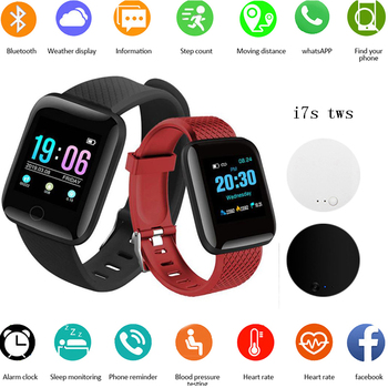 smart watch D13 Men Smart Bracelet Heart Rate Blood Pressure Monitoring Tracker IP67 Waterproof 116 smart watch with i7s tws 1