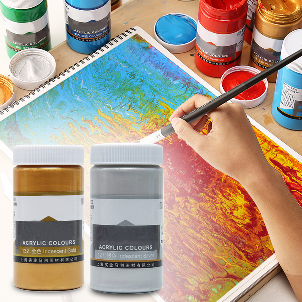 Acrylic Paint Large Capacity Metallic Color Graffiti Tool DIY Painting Art Supplies Professional Non Toxic Beginner Wall Drawing
