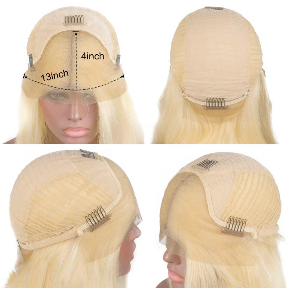 613 gerade Bob Perücke 13X4 Kurze Spitze Vorne Menschenhaar Perücken Für Frauen 150% Blonde Gerade Spitze Vorne Perücke