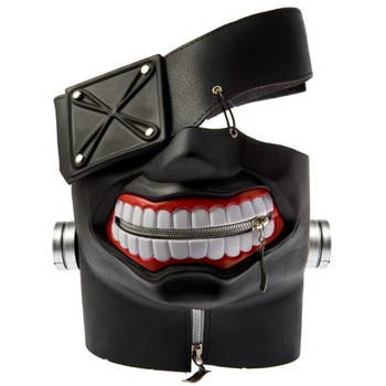 Tokyo Ghoul Kaneki Ken Latex Mask Halloween Party Cosplay Anime Costume Accessory Adjustable One Size Fits Most 4