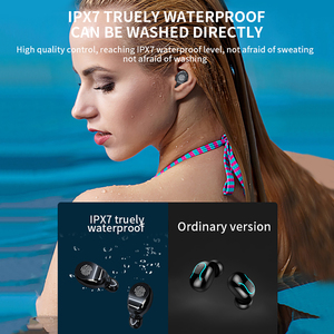 Image 5 - V8 TWS Bluetooth 5,0 kopfhörer drahtlose kopfhörer 8D Stereo Sport Headset Fingerprint Touch LED Digital Display HD Anruf ohrhörer