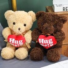En çok satan 30-90CM sevimli peluş doldurulmuş oyuncak aşk ayı oyuncak ayı bebek holding kalp süper kaliteli ev dekorasyon çocuk bir