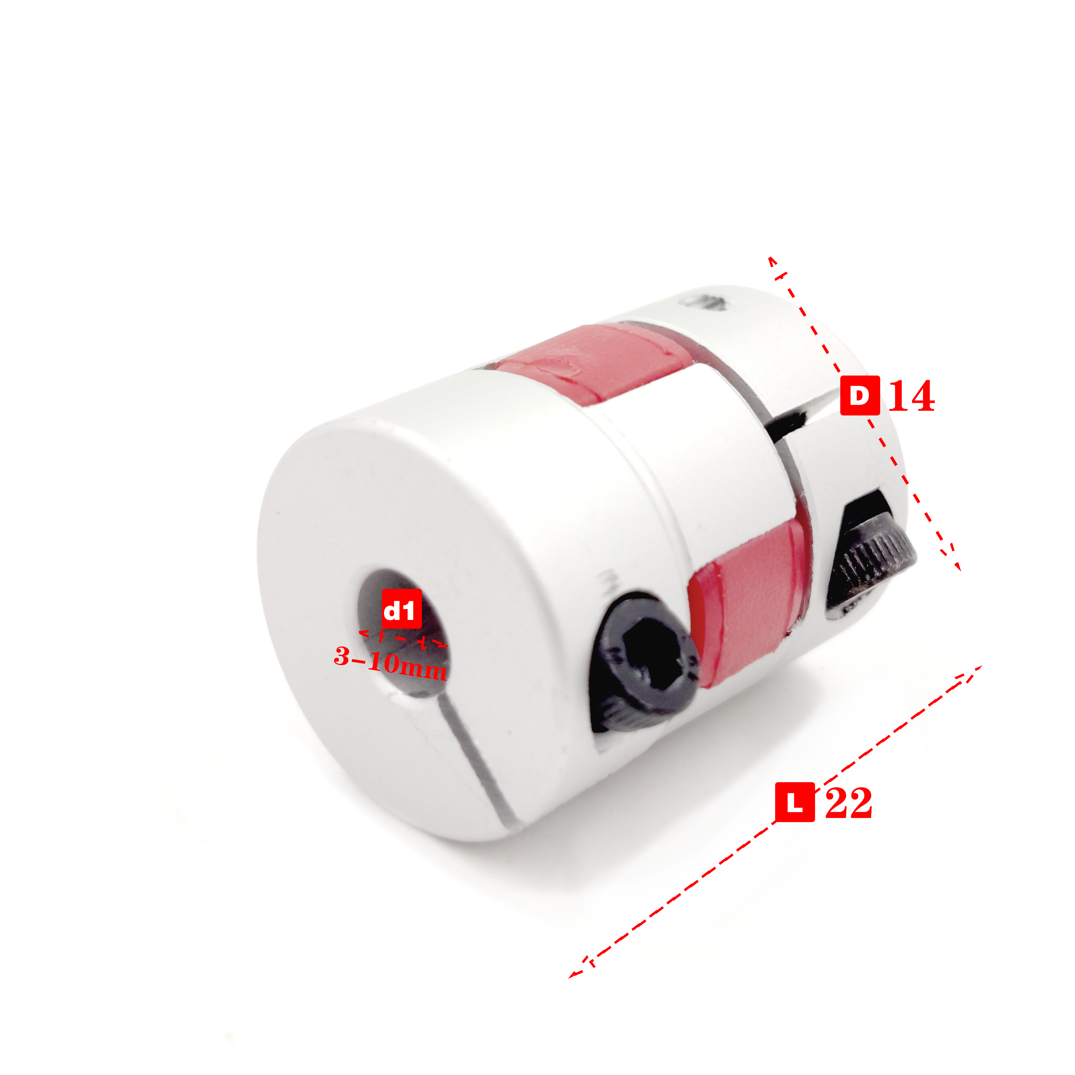 4//5//6//6.35//7//8mm Rigid Shaft Coupling Coupler Motor Drive Axis Connector Sleeve