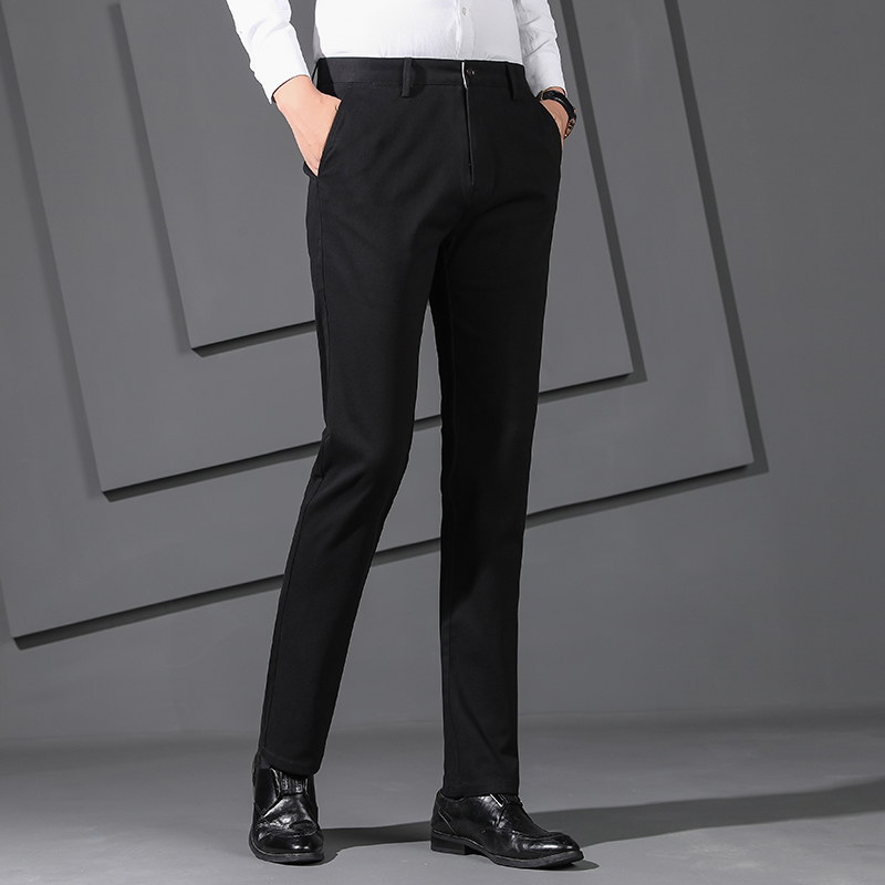 2019 Autumn Winter Pants Men Stretch Slim Cotton Trousers Men Casual  Fashion Black Chinos Pants For Men Calsa Masculina