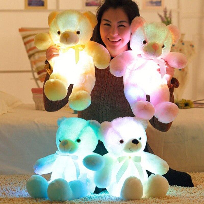 50Cm//75Cm Length Creative Night Light LED Lovely Dog Stuffed And Plush Toy