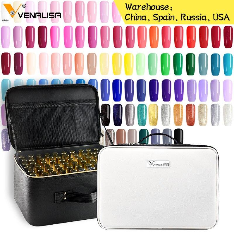 2019 nouveau 111 mode couleur 12ml Venalisa gel vernis vernish couleur gel vernis pour la conception de l'art des ongles ensemble entier gel pour les ongles kit d'apprentissage