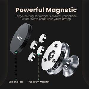Image 4 - Ugreen Auto Magnetische Telefon Halter Handy Halter Stehen In Auto Smartphone Unterstützung Magnet für S10 Handy Ständer Halter