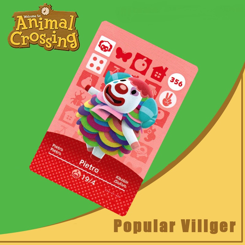 356 Animal Crossing Amiibo Card Pietro Amiibo Card Animal Crossing Series 4 Pietro Nfc Card Work For Ns Games Dropshipping