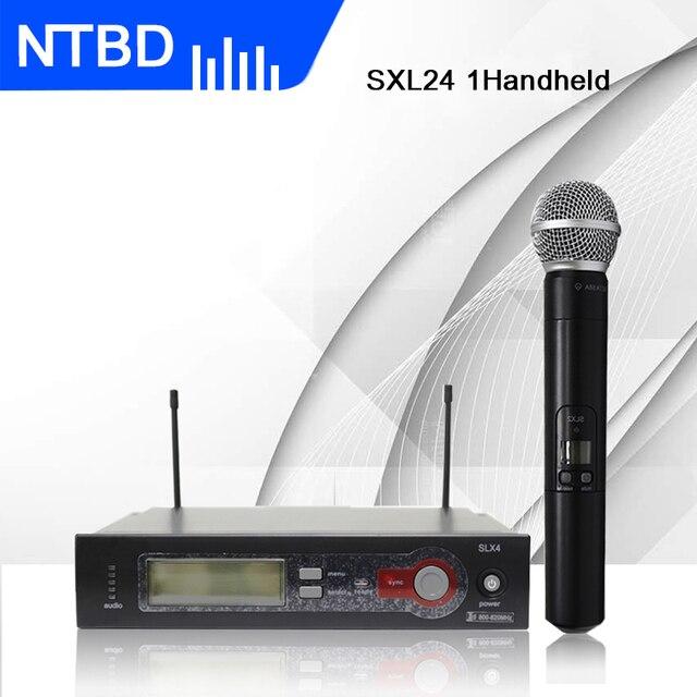NTBD Ev KTV Kilise Sahne Performansı Düğün Parti SLX4 UHF Profesyonel Kablosuz Mikrofon Yüksek Kaliteli Uzun Mesafe