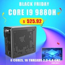 Più nuovo Mini PC Intel i9 10880H i9 9880H i7 9850H 2 * DDR4 2 * M.2 PCIE + 1*2.5 SATA Grafica 630 Gaming Silenzio PC HDMI DP AC WiFi BT