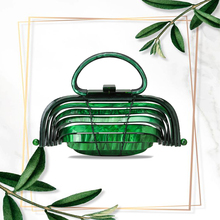 2020 Acrylic Bird Cage Niche Design Bamboo Basket Bag Hollow Bag Hand Bag Holiday Beach Woven Handbag